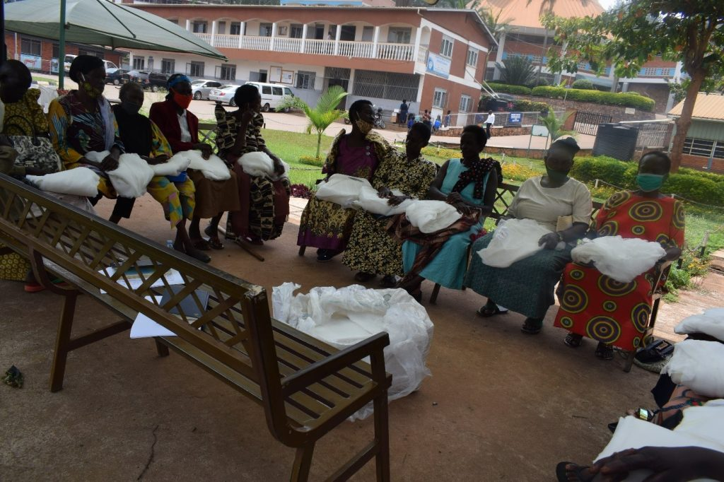 Staying safe from malaria:  Grandmothers receive mosquito nets