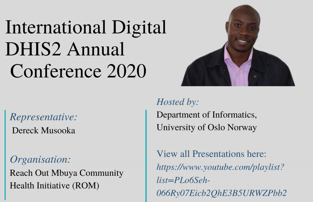 ROM participates in the first-ever International Digital DHIS2 Conference